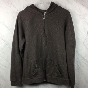 Nike Brown Zip Up Hooded Sweatshirt